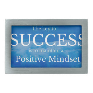 Key to Success Inspirational Quote Rectangular Belt Buckle