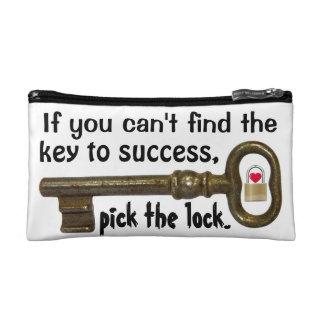 Key to Success Makeup Bag