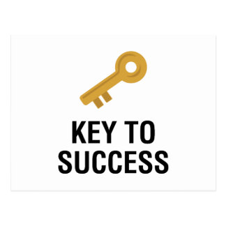 Key to Success Postcard