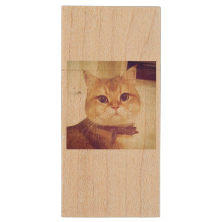 Key USB Catsy Wood USB Flash Drive