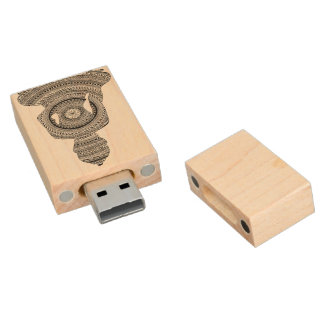 Key USB GraphiZen Buddha Wood USB Flash Drive