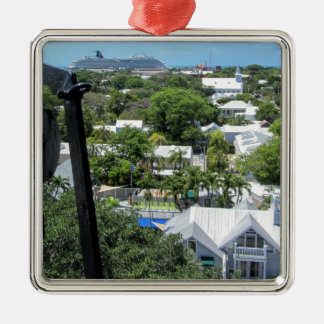 Key West 2016 (203) Silver-Colored Square Ornament