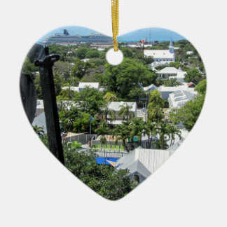 Key West 2016 Ceramic Heart Ornament