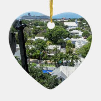 Key West 2016 Ceramic Heart Ornament