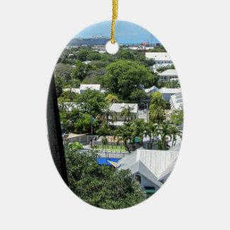 Key West 2016 Ceramic Oval Ornament