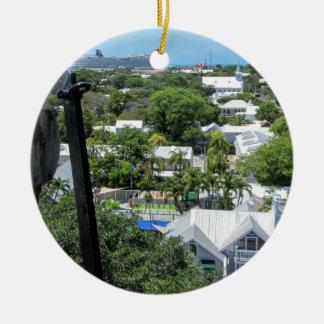 Key West 2016 Round Ceramic Ornament