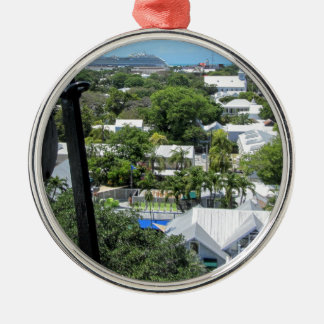 Key West 2016 Silver-Colored Round Ornament