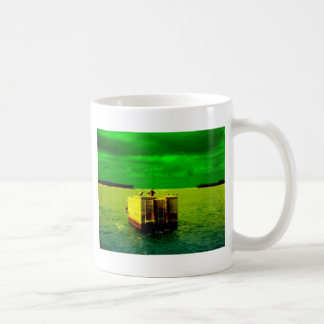 Key West Birds with green sunlit sky Coffee Mug