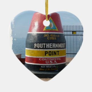 Key West Ceramic Heart Ornament