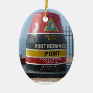 Key West Ceramic Oval Ornament