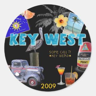 Key West Classic Round Sticker