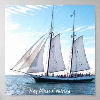 Key West Cruising Poster