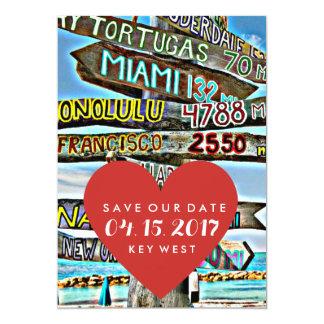 Key West Destination Wedding Save the Date Card