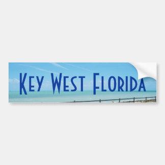 Key West Florida Aquamarine Ocean Bumper Sticker