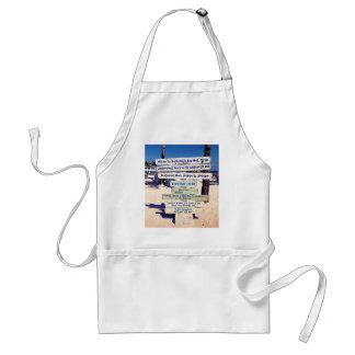 key west florida beach sign standard apron