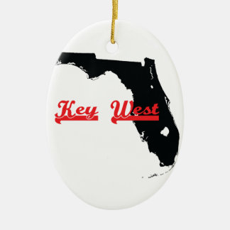 key west Florida Ceramic Oval Ornament