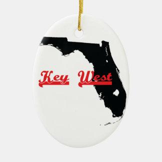key west Florida Ceramic Oval Ornament
