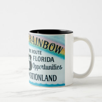 Key West Florida End Of The Rainbow Sign Mug