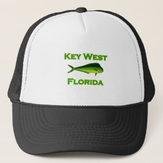 Key West Florida Fishing Trucker Hat