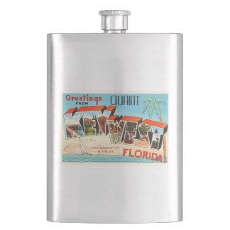 Key West Florida FL Old Vintage Travel Souvenir Hip Flask