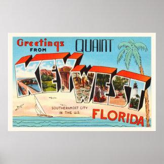 Key West Florida FL Old Vintage Travel Souvenir Poster
