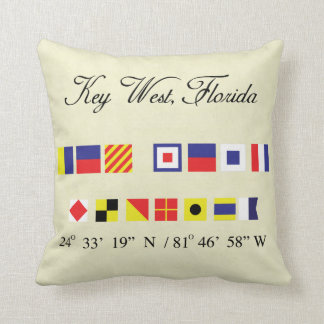 Key West Florida Nautical Signal Flag Pillow