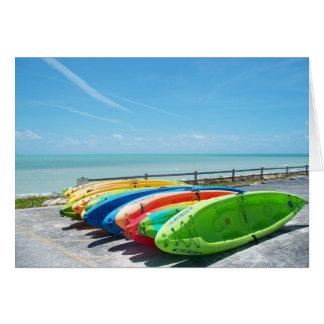 Key West Florida Ocean View Kayak Greeting Card FL