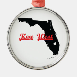 key west Florida Silver-Colored Round Ornament