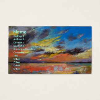 Key West Florida Sunset Business Card
