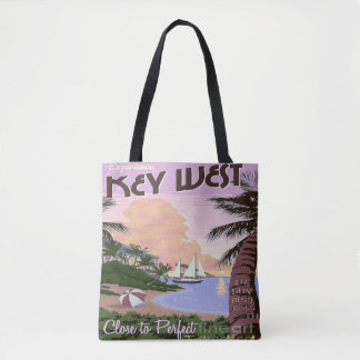 Key West Florida Travel Tote bag Beach  Vacation