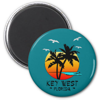 KEY WEST FLORIDA TROPICAL DESTINATION 2 INCH ROUND MAGNET