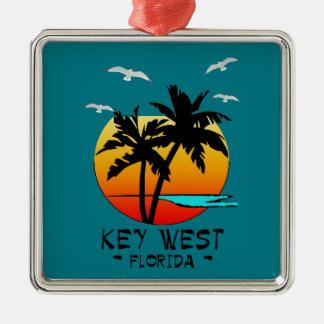 KEY WEST FLORIDA TROPICAL DESTINATION METAL ORNAMENT