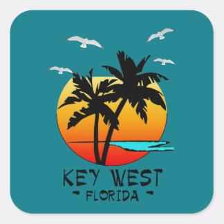 KEY WEST FLORIDA TROPICAL DESTINATION SQUARE STICKER