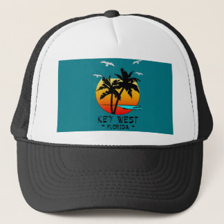 KEY WEST FLORIDA TROPICAL DESTINATION TRUCKER HAT