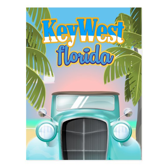 Key West, Florida USA vintage travel poster Postcard