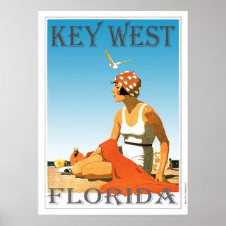Key West Florida Vintage Beach Poster