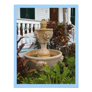 Key West Garden Fountain Invitation