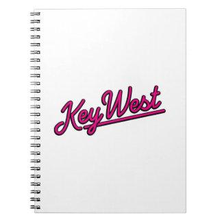 Key West in magenta Spiral Notebook