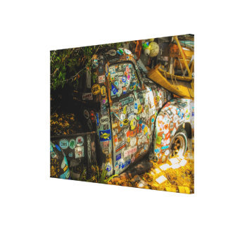 Key West is Art, Old Pickup Truck Canvas Print