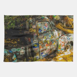 Key West is Art, Old Pickup Truck Kitchen Towel
