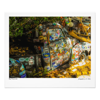 Key West is Art, Old Pickup Truck Photo Print