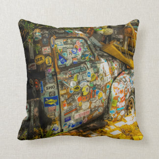 Key West is Art, Old Pickup Truck Throw Pillow