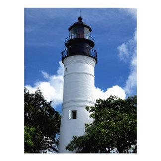 Key West Lighthouse Letterhead Template