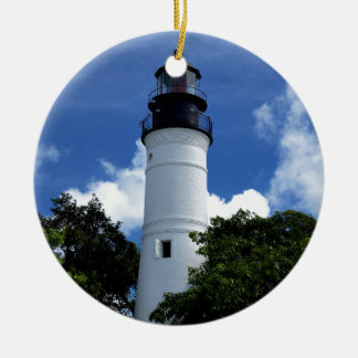 Key West Lighthouse Round Ceramic Ornament