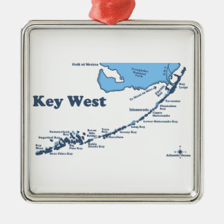 Key West. Metal Ornament
