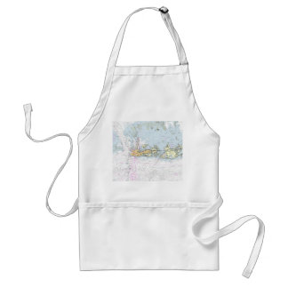 Key West Nautical Chart Apron