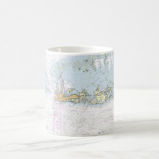 Key West Nautical Chart Coffee Mug Cup