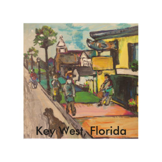 Key West Painting Wood Wall Art