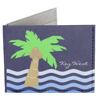 Key West Palm Palm Tree Ocean Waves Billfold Wallet