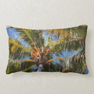 Key West Palm Trees Lumbar Throw Pillow